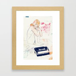 Out of words Framed Art Print