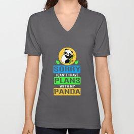 Panda Have Plan Bamboo Panda Bear Giant Panda Unisex V-Neck