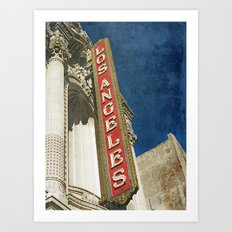 1931 Los Angeles Theatre Vintage Sign Art Print