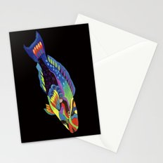 Rainbow parrot fish -2 Stationery Cards