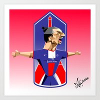 "zlatan Art Prints featuring ""I am Zlatan"" by Miguel Angel Illustrations"