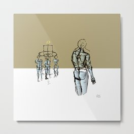 Glass people Metal Print