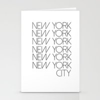new york city Stationery Cards featuring New York New York City by Stylish in Sequins