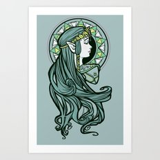 Zelda Nouveau Art Print