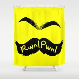 RwnlPwnl Mustache Shower Curtain