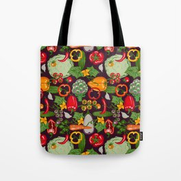 Vegetable Farm Pattern Tote Bag