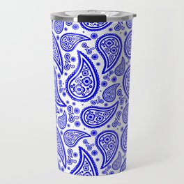 Paisley (Blue & White Pattern) Travel Mug