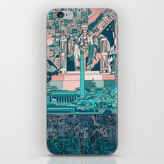 washington dc city skyline iPhone & iPod Skin