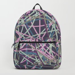 Colored Line Chaos #9 Backpack
