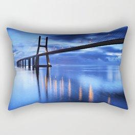 Vasco Da Gama Bridge Rectangular Pillow