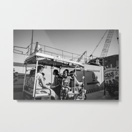 the girl in the auto Metal Print