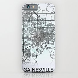 Gainesville, FL, USA, City Map iPhone Case