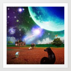 A Most Unusual Evening Art Print