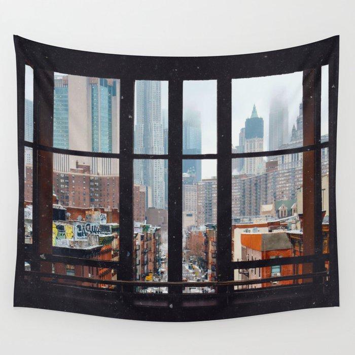 New York City Window Wandbehang