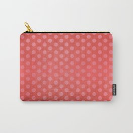 Lots of Dots - Geometric Pattern Design (Red) Carry-All Pouch