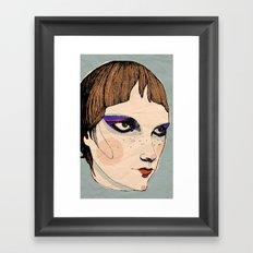 make up Framed Art Print