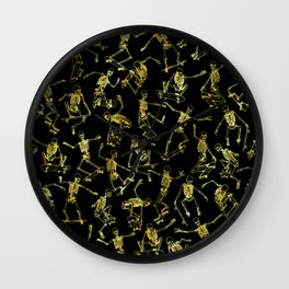Grim Ripper Skater GOLD Wall Clock