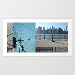 Up / Down / Across Art Print