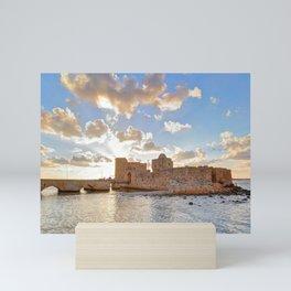Sidon Sea Castle, Lebanon Mini Art Print