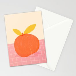 Abstraction_PEACH_LOVE_PINK_DRAWING_POP_ART_001A Stationery Cards