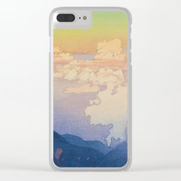 Above the Clouds (Un-Hyo) Vintage Beautiful Japanese Woodblock Print Hiroshi Yoshida Clear iPhone Case