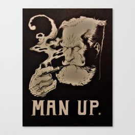 MAN UP B&W Canvas Print