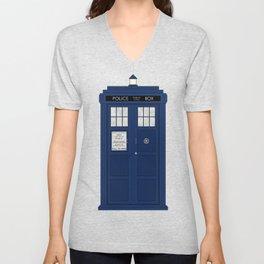 Doctor Who's Tardis Unisex V-Neck