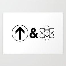 Up&Atom. Art Print