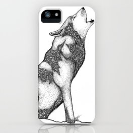 The wolf of Many iPhone Case