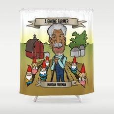 A Gnome Farmer (Morgan Freeman) Shower Curtain