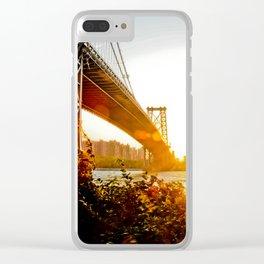 Sunset at Williamsburg Bridge Clear iPhone Case