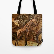 Three Giraffes Tote Bag