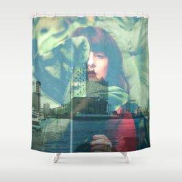 Grean city Shower Curtain