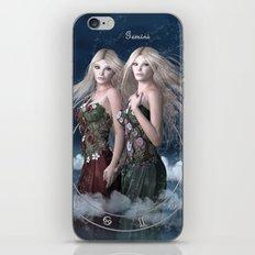 Gemini zodiac fantasy iPhone & iPod Skin