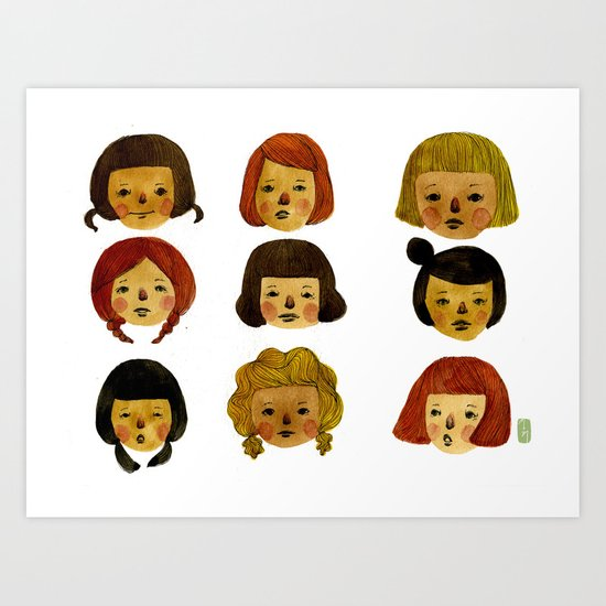 Girls II Art Print
