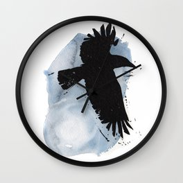 Raven Moon Wall Clock