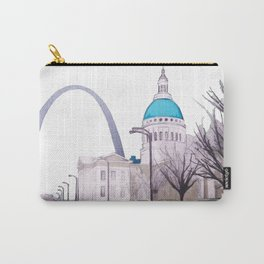 St. Louis Arch with cabs Carry-All Pouch