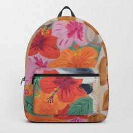 Giraffe painting, Colorful wall art, Animal art Backpack