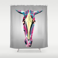 horse Shower Curtains featuring horse by Alvaro Tapia Hidalgo