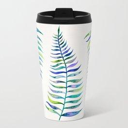 Indigo Palm Leaf Travel Mug