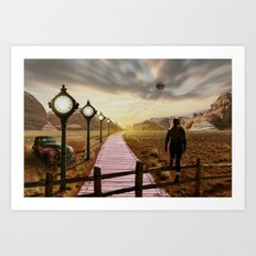 Moment of time Art Print