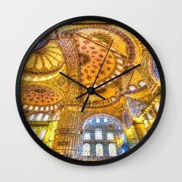 Istanbul Blue Mosque Art  Wall Clock
