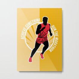 Marathon Achieve Something Poster Retro Metal Print