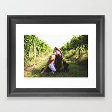 Vineyard Yoga Framed Art Print