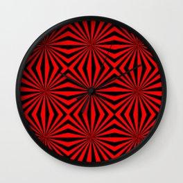 Red Abstract Modern Pattern Art Design Wall Clock