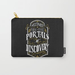 Lab No. 4 - Mistakes are the portals of discovery - James Joyce Corporate Startup Quotes Poster Carry-All Pouch