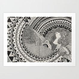 Aztech Patterns Art Print