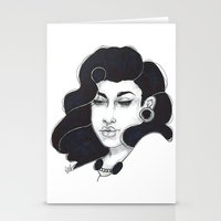 50s Stationery Cards featuring 50s girl by Cecil Addams