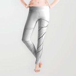 Mycelium (pencil drawing) Leggings