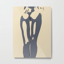 Abstract nude, woman body, sexy rear view, naked girl shapes, erotic, nsfw, adult art Metal Print